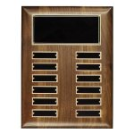 Walnut Perpetual Plaque Achievement Awards