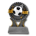 Soccer Banner Ribbon Resin Trophy Awards