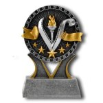 Victory Banner Ribbon Resin Trophy Awards