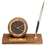 American Walnut Round Clock Boss Gift Awards