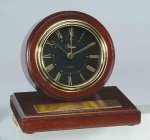 American Walnut Finish Round Clock Boss Gift Awards