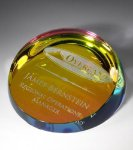 Colored Corona Paperweight Boss Gift Awards