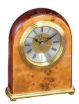 Domed Burl Desk Clock Employee Awards