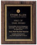 Walnut Hardwood Bevel Edge Plaques Fire and Safety Awards