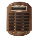 Bronze Framed Perpetual Plaques Patriotic Awards