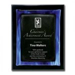 Blue Metallic Fusion Piano Finish Plaques
