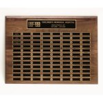 Walnut Perpetual Plaques Religious Awards