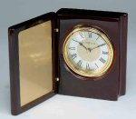 Piano Finish Mahogany Book Clock Secretary Gift Awards