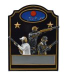 Trap Shooter Trio Line Resin Trophy Awards